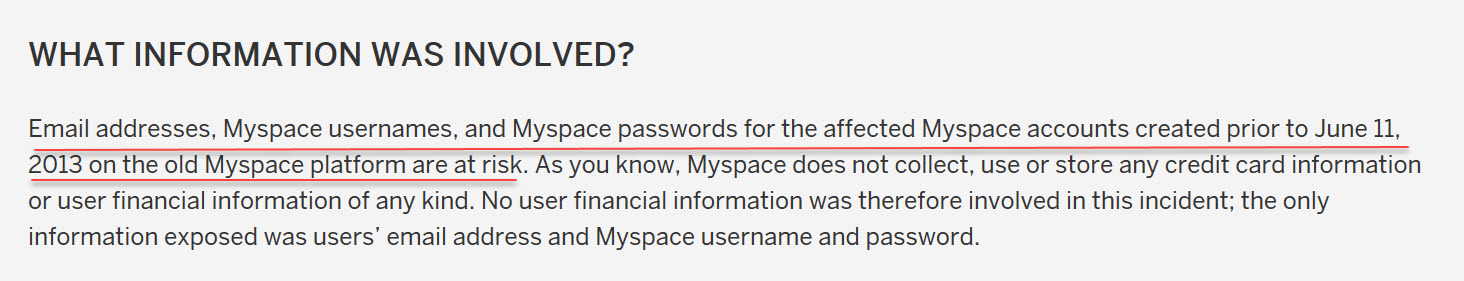 myspace dating original breach